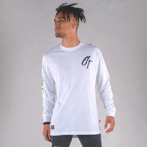 Cuzy T Men's White Long Sleeve Iconic T-Shirt